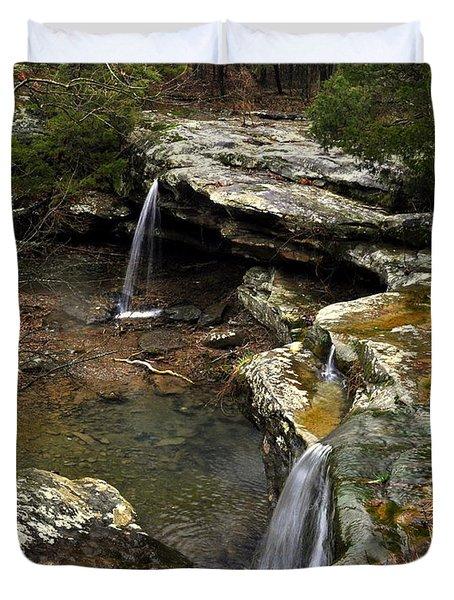 Burden Falls Duvet Cover by Marty Koch