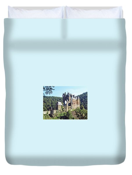 Burg Eltz In Profile Duvet Cover by Joseph Hendrix