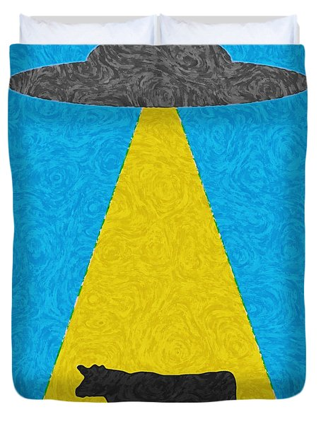 Burger To Go Duvet Cover by Tony Cooper