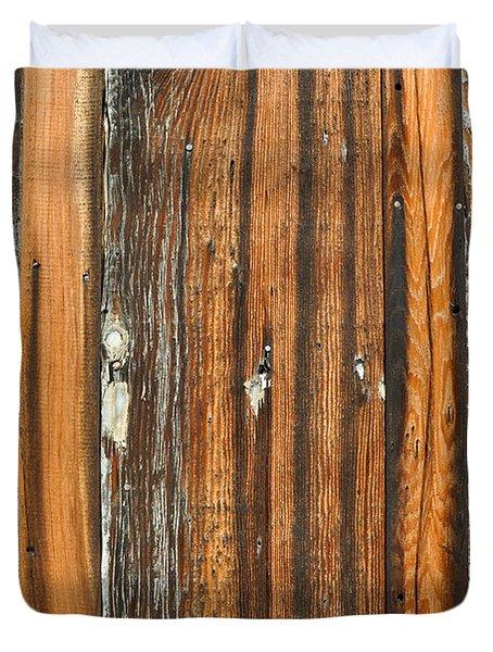 Burned Wood Grunge Background Duvet Cover