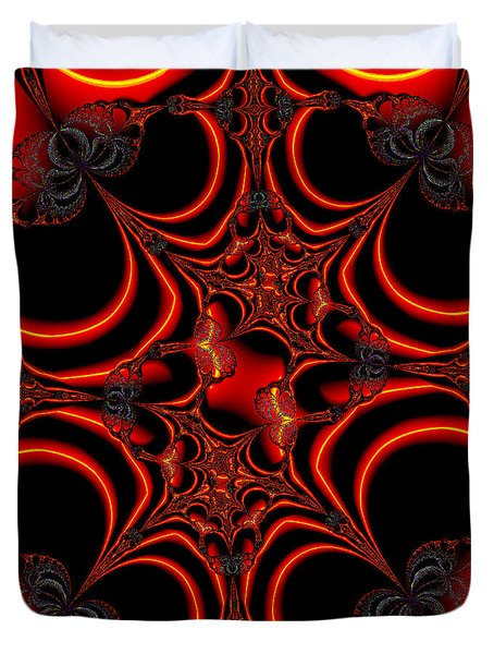 Duvet Cover featuring the digital art Burning Function by Ester  Rogers