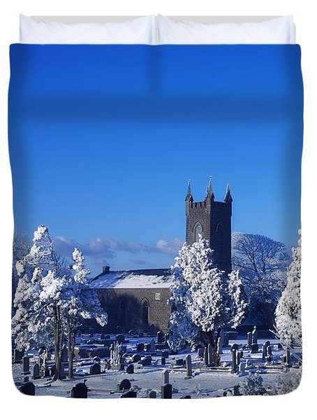 Bushmills Church, County Antrim Duvet Cover by The Irish Image Collection