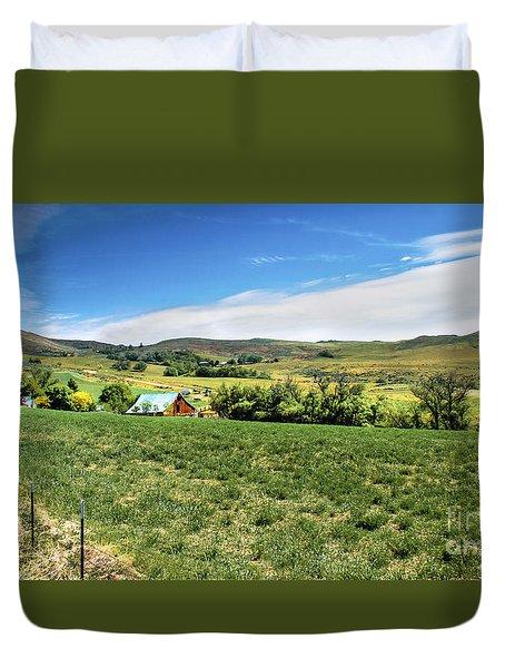 Butte Ranch Duvet Cover by Robert Bales