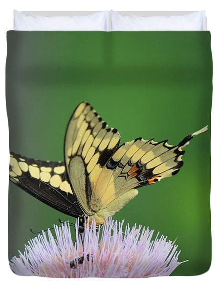 Duvet Cover featuring the photograph Butterflies Are Free by Kathy  White
