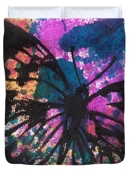 Butterfly Bliss Duvet Cover by Oddball Art Co by Lizzy Love