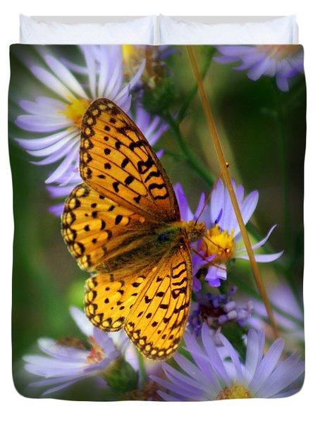 Butterfly Blur Duvet Cover by Marty Koch
