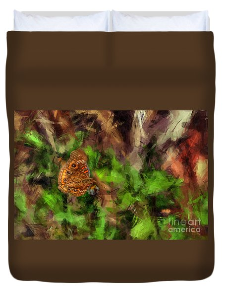 Duvet Cover featuring the photograph Butterfly Camouflage by Dan Friend