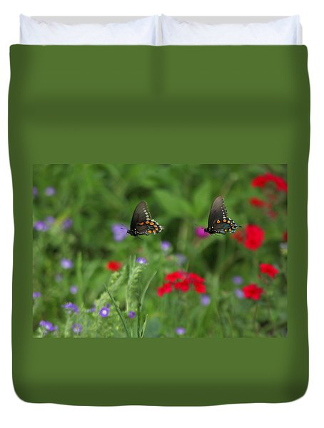 Butterfly Chase Duvet Cover