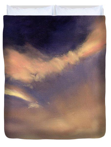 Butterfly Clouds Duvet Cover by Antonia Myatt