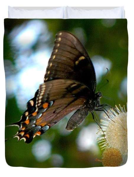 Duvet Cover featuring the photograph Butterfly IIi by Ester  Rogers