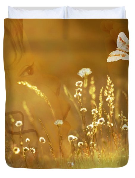 Butterfly Kiss Duvet Cover by Torie Tiffany