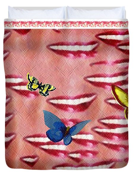 Butterfly Kisses Duvet Cover by Bill Cannon