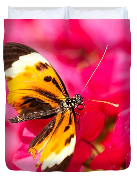 Duvet Cover featuring the photograph Butterfly by Les Palenik