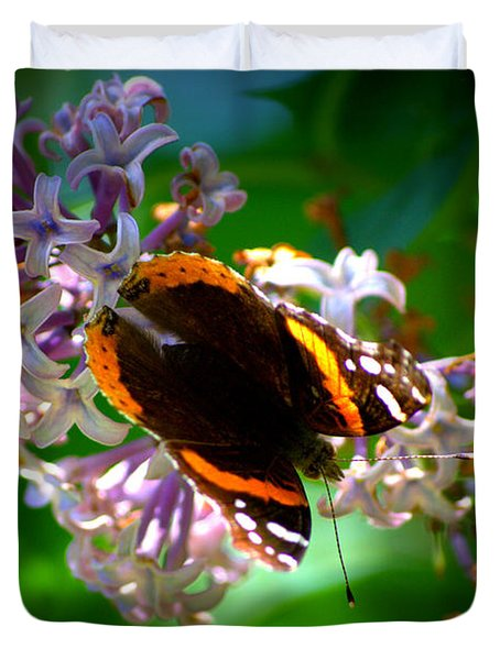 Butterfly On Lilac Duvet Cover