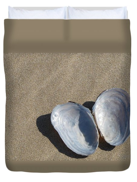 Duvet Cover featuring the photograph Shells And Shadows by Maciek Froncisz