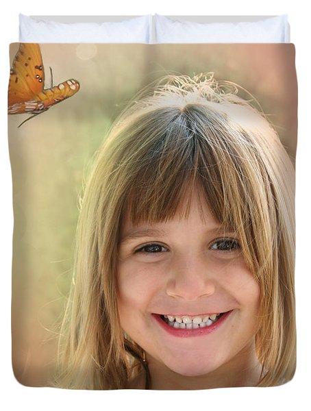 Butterfly Smile Duvet Cover