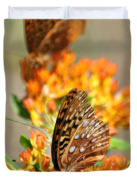 Butterfly Weed 2 Duvet Cover by Marty Koch