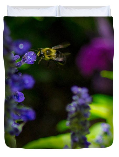 Buzzing Around Duvet Cover by Shannon Harrington