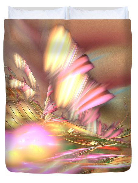 By The Field - Abstract Art Duvet Cover