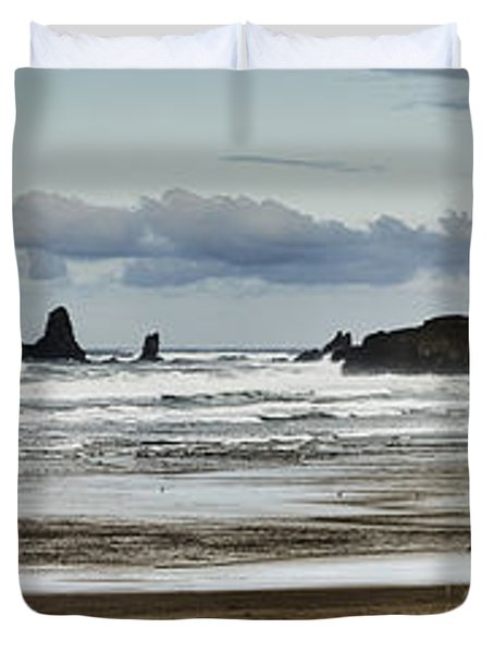 By The Sea - Seaside Oregon State  Duvet Cover by James Heckt