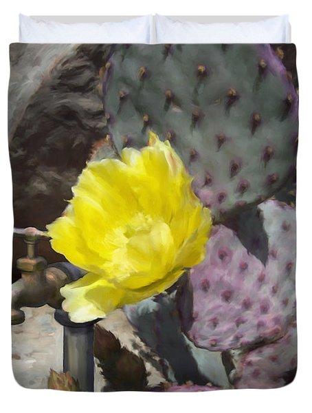 Cactus Flower 2 Duvet Cover by Snake Jagger