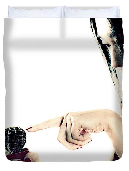 Cactus Duvet Cover by Joana Kruse