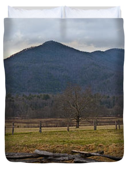 Cade's Cove - Smoky Mountain National Park Duvet Cover by Christopher Gaston