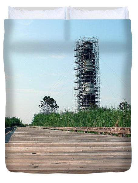 Duvet Cover featuring the photograph Caged Beauty 1 by Tony Cooper