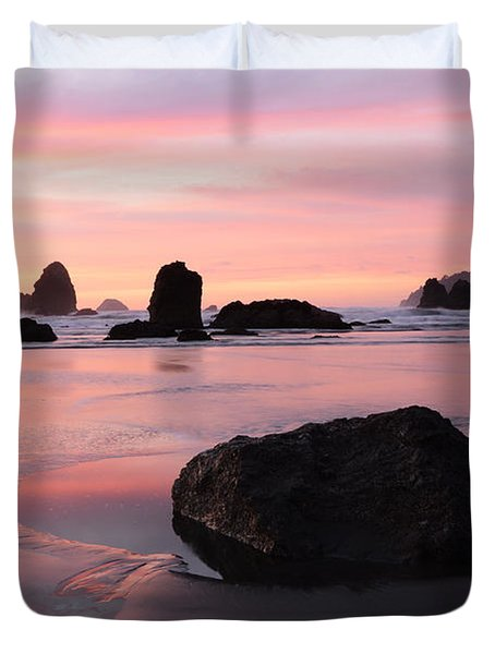 California Coast 3 Duvet Cover by Bob Christopher