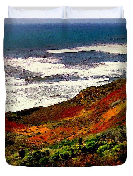 California Coastline Duvet Cover by Bob and Nadine Johnston