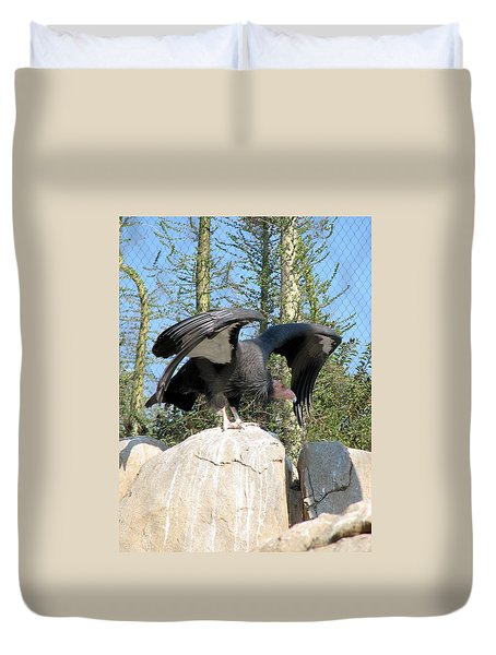 Duvet Cover featuring the photograph California Condor by Carla Parris