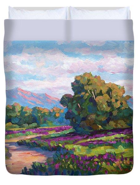 California Hills - Plein Air Duvet Cover