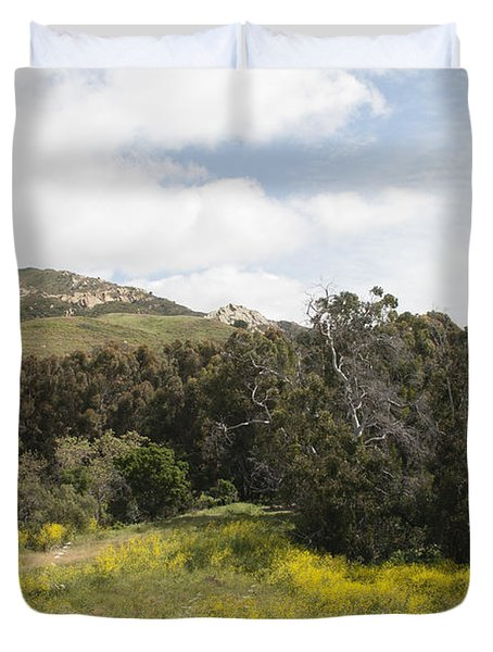 California Hillside View IIi Duvet Cover