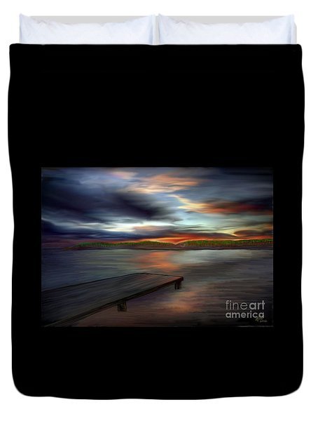Duvet Cover featuring the painting California Sky by Rand Herron