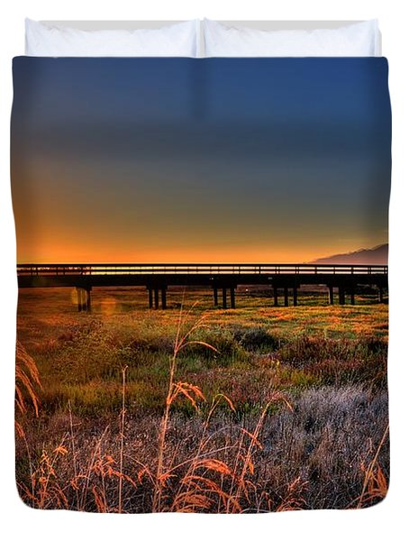 Duvet Cover featuring the photograph California Sunset by Marta Cavazos-Hernandez