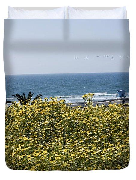 California Wildflowers Duvet Cover by Daniel  Knighton