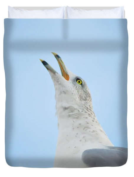 Call Of The Wild Duvet Cover by Bill Cannon