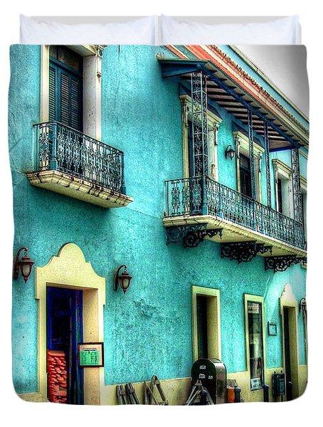 Calle Cristo Duvet Cover by Debbi Granruth