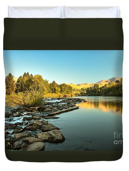 Calm Payette Duvet Cover by Robert Bales