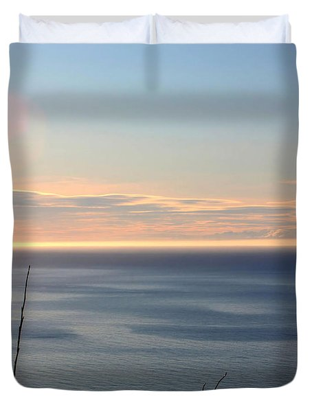 Duvet Cover featuring the photograph Calm Sea by Michele Cornelius