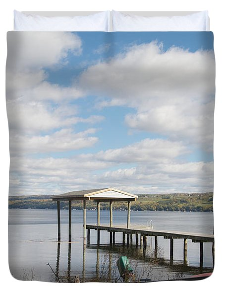 Duvet Cover featuring the photograph Calm Waters by William Norton