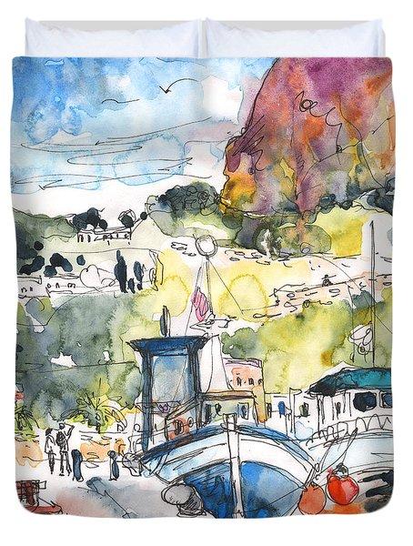 Calpe Harbour 05 Duvet Cover by Miki De Goodaboom
