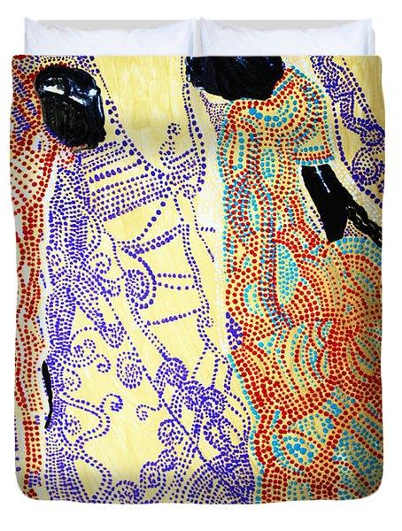 Calvary Duvet Cover by Gloria Ssali
