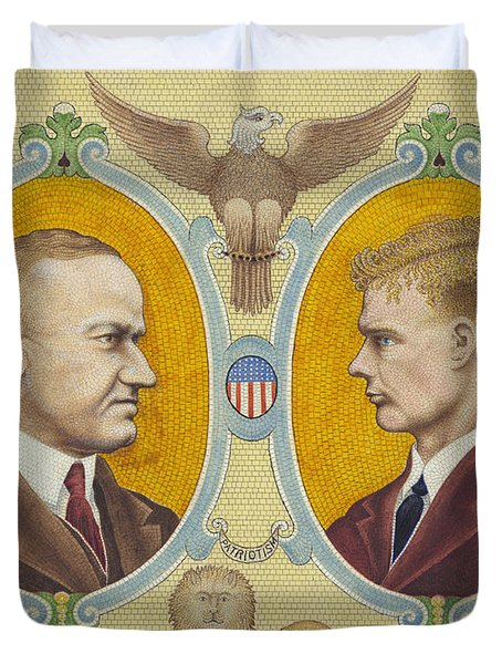 Calvin Coolidge And Charles Lindbergh Duvet Cover