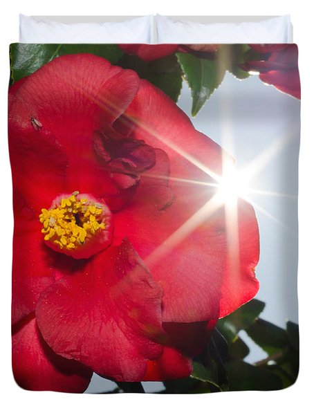 Camellia Flower Duvet Cover by Mats Silvan