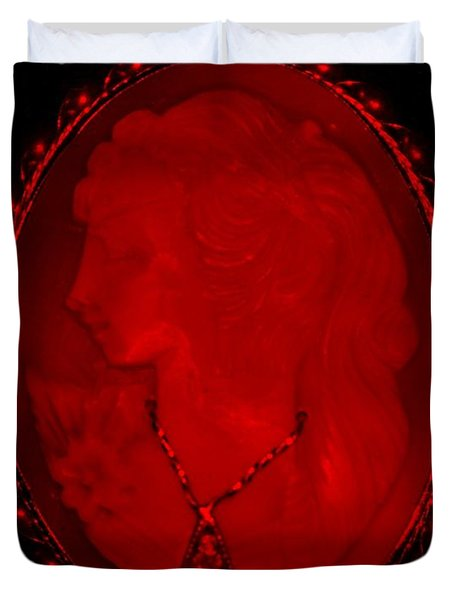 Cameo In Red Duvet Cover by Rob Hans