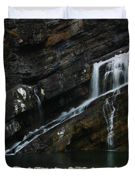 Cameron Falls Waterton Lakes National Park Duvet Cover