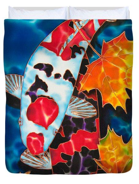 Canadian Koi Duvet Cover by Daniel Jean-Baptiste
