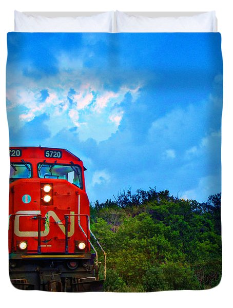 Canadian Northern Railway Train Duvet Cover