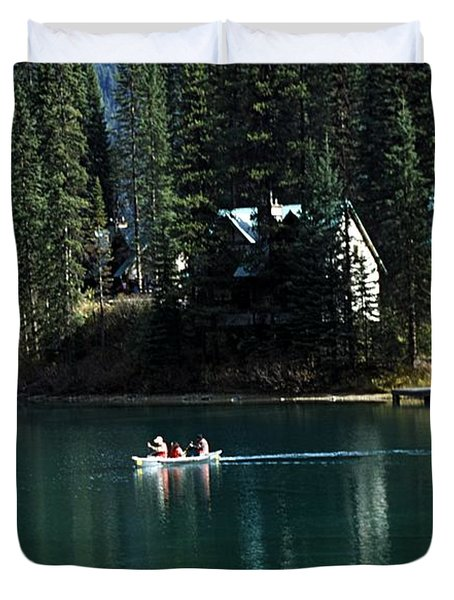 Canadian Rockies Duvet Cover by John Doornkamp